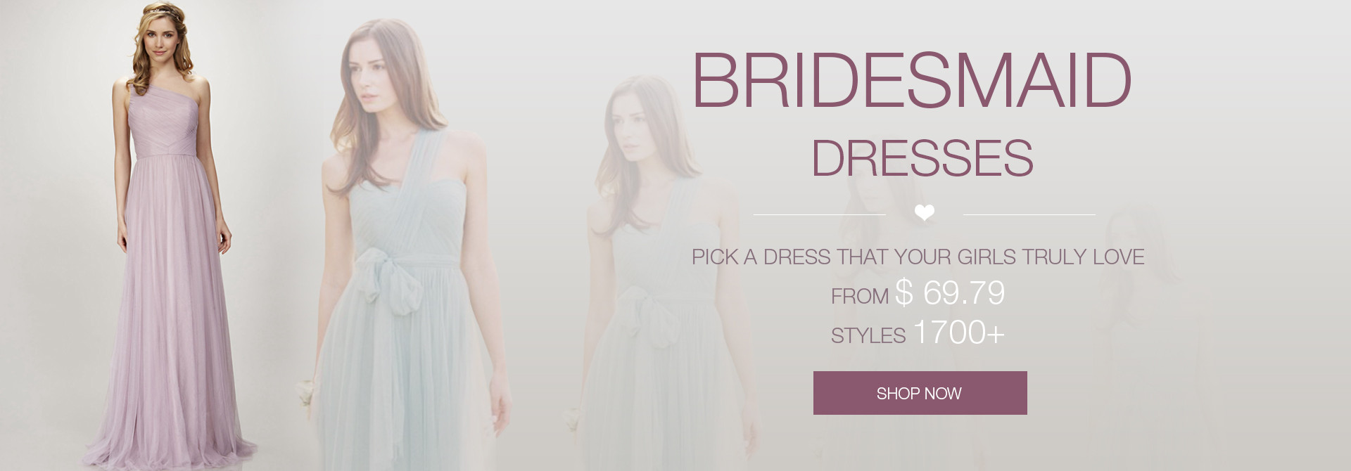 Bridesmaid Dresses from $69.79